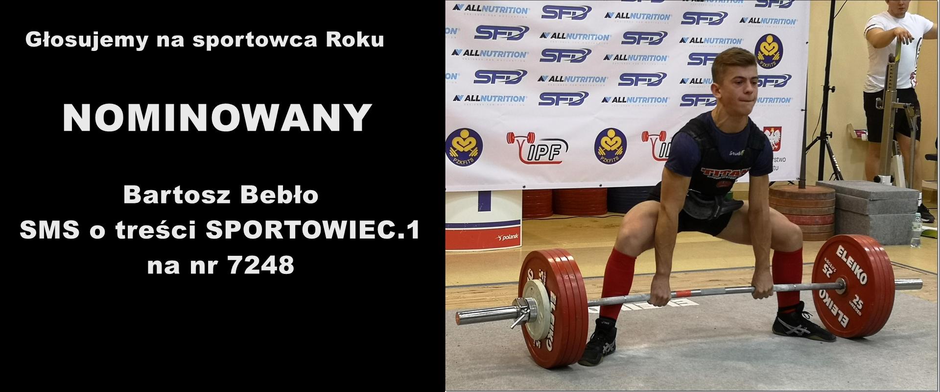 Bartosz Bebło nominowany na sportowca roku 2019